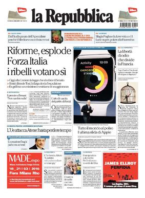La Repubblica ITA 2015-3-10 Cover
